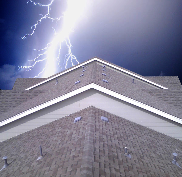 lightning on roof